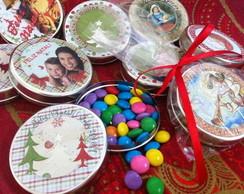 Latinha - lembran�a de Natal - confetes