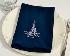 Guardanapo bordado Tecido 30x30 cm Paris
