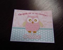 R�tulo para Mamadeirinha Pink Owl