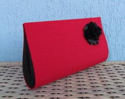 Clutch Vermelha/Preto