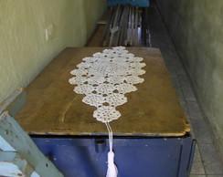 caminho de mesa branco linha de seda