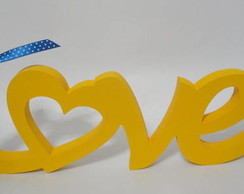 Palavra Love 04 Amarela Em Mdf