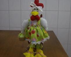 Boneca Galinha Caipira com Cesto