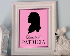 Poster Silueta & Nome Personalizado Girl