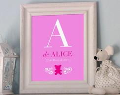 Poster Nome Personalizado Girl
