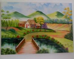 Pintura Em Tela-paisagem