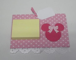 Post-it Recados Minnie Rosa