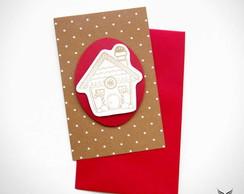 Cart�o Natal Casinha Cookie