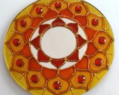 Mandala Prosperidade em espelho de 15cm