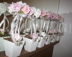 Topiara de rosas sortidas prata II