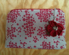 N�cessaire Floral Pink fundo Branco