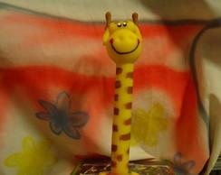 Porta Caneta Decorada de Biscuit Girafa