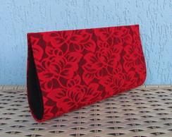 Clutch Renda Vermelha/Preto