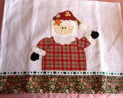 Pano de copa de Natal em patchwork