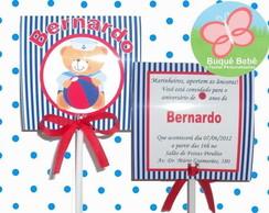 Ursinho Marinheiro - Convite Pirulito