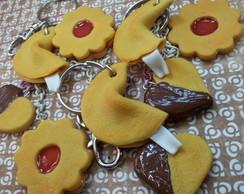 Chaveiro biscoitos!