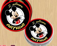 Etiqueta adesiva para latinha Mickey