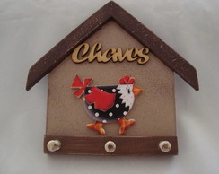 Porta chaves galinha