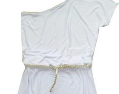 Vestido longo branco ou cores variadas