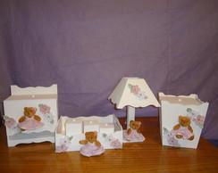 Kit de higiene ursa rosa 7 pe�as