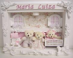 Enfeite Maternidade Fam�lia Urso c/Luz