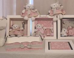 Kit Maternidade Ursinha Rosa Proven�al