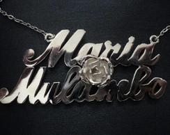 Cord�o Maria Mulambo em prata..