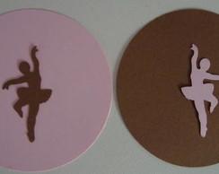 Tag G - bailarina em papel cor lisa