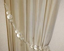 Abra�adeira de cortina transparente