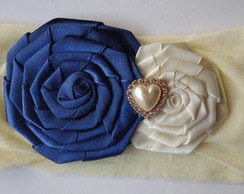 Faixinha Baby Flor Rosette