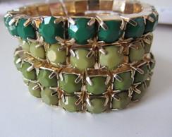 Conjunto pulseiras verdes