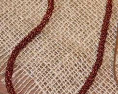 Colar croch� em cobre