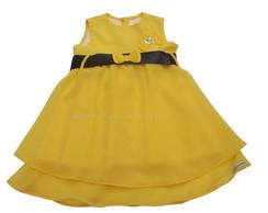 Vestido Festa Infantil Amarelo 284FE3