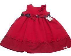 Vestido Infantil Vermelho 28506D