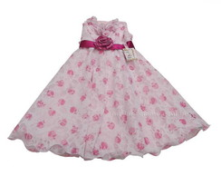 Vestido Infantil Floral Rosa 2852B2