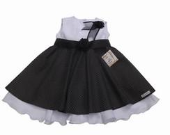 Vestido Infantil preto e branco 285328