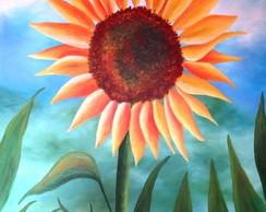 Pintura em tela - Gira Sol.