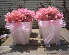 Vasinho de Hort�ncia rosa