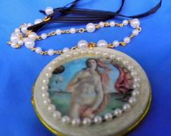 Colar Medalh�o V�nus de Boticcelli