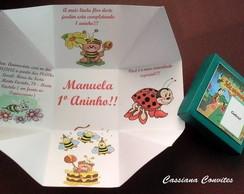 Convite Joaninhas e Abelhinhas