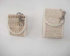 Chaveirinho porta moedas de fibra