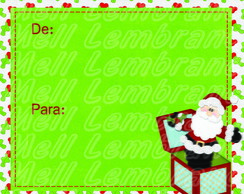 Etiqueta para presente Papai Noel