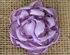Presilha C�cile com Flor de Cetim Lil�s