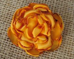 Presilha C�cile Flor de Cetim Amarela
