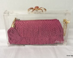 Clutch acr�lica (spider red)