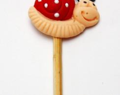 Palito para doces tema jardim biscuit