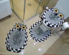 Jogo de banheiro - Coruja Bnh 052