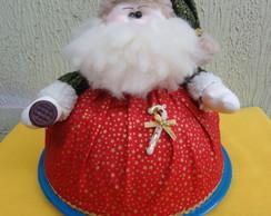 cobre bolo de papai noel com prato