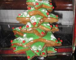 �rvore de Natal de bolacha