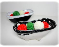 Mini Bouquets em sabonete - Natal